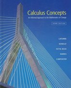 Calculus Concepts 3rd edition 9780618401284 0618401288