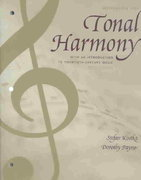 Tonal Harmony Wkbk with Wkbk Audio CD and Finale CD-ROM 5th edition 9780072918960 0072918969