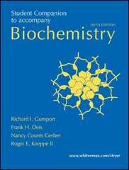 Student Companion for Biochemistry 6th edition 9780716770671 0716770679