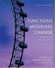 Functions Modeling Change 3rd Edition 9780471793038 0471793035