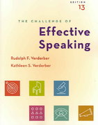 "The Challenge of Effective Speaking (with CD-ROM and SpeechBuilder Expressâ""¢/InfoTrac) 13th edition 9780534646974 0534646972"
