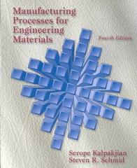 Manufacturing Processes for Engineering Materials 4th edition 9780130408716 0130408719