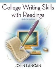 College Writing Skills with Readings 7th edition 9780073384085 0073384089