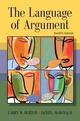 The Language of Argument 12th edition 9780618917556 0618917551