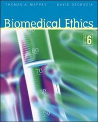 Biomedical Ethics 6th edition 9780072976441 0072976446