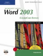 New Perspectives on Microsoft Office Word 2003, Comprehensive, CourseCard Edition 1st edition 9781418839116 1418839116