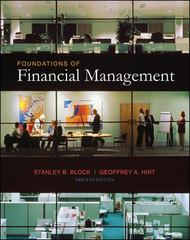 Foundations of Financial Management 12th edition 9780073027203 0073027200
