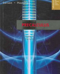 Precalculus 7th edition 9780618643448 0618643443