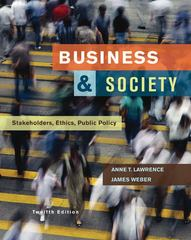 Business and Society: Stakeholders, Ethics, Public Policy 12th Edition 9780073530178 0073530174