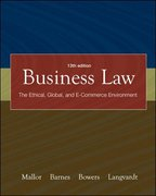 Business Law with OLC card and You Be the Judge DVD (Vol 1 &2) 13th edition 9780073271392 007327139X