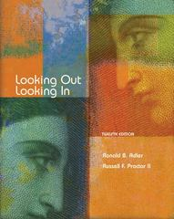 Looking Out, Looking In 12th edition 9780495095804 049509580X