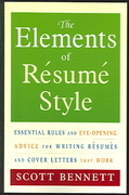 The Elements of Resume Style 1st Edition 9780814472804 081447280X