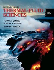 Fundamentals of Thermal-Fluid Sciences with Student Resource CD 3rd Edition 9780073327488 0073327484