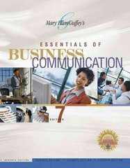 Essentials of Business Communication 7th edition 9780324313925 0324313926