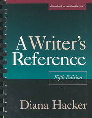 Writers Reference 5th edition 9780312397678 0312397674
