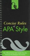 Concise Rules of APA Style 1st Edition 9781591472520 1591472520