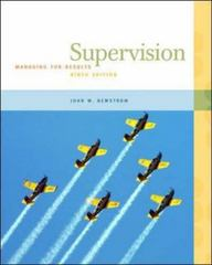 Supervision 9th edition 9780073545080 0073545082