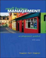 Small Business Management 5th Edition 9780072972566 0072972564