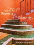 Statistical Techniques in Business and Economics with Student CD 13th edition 9780073272962 0073272965