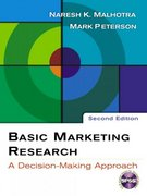 Basic Marketing Research: A Decision-Making Approach with SPSS 13.0 Student CD 2nd edition 9780131548657 0131548654