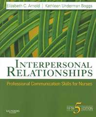 Interpersonal Relationships 5th edition 9781416029137 1416029133