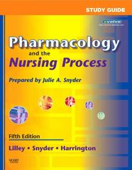 Pharmacology and the Nursing Process 5th edition 9780323044868 0323044867