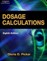 Dosage Calculations 8th edition 9781418080471 1418080470