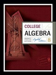 College Algebra 8th edition 9780073312620 0073312622