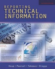 Reporting Technical Information 11th Edition 9780195178791 0195178793