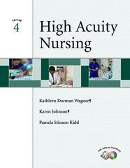 High-Acuity Nursing 4th Edition 9780131245082 0131245082