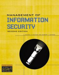 Management Of Information Security 2nd edition 9781423901303 1423901304
