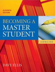 Becoming a Master Student 11th edition 9780618595389 0618595384