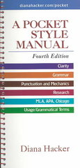 A Pocket Style Manual 4th Edition 9780312406844 0312406843