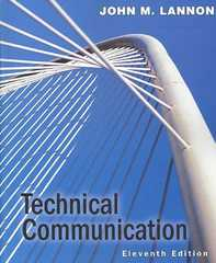 Technical Communication 11th edition 9780205559572 0205559573