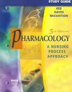 Study Guide for Pharmacology 5th edition 9781416001478 1416001476
