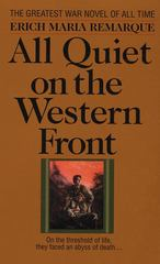 All Quiet on the Western Front 1st Edition 9780449213940 0449213943