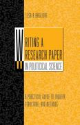 Writing a Research Paper in Political Science 1st edition 9780495092629 0495092622