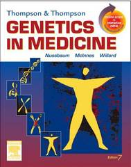 Thompson & Thompson Genetics in Medicine 7th Edition 9781416030805 1416030808