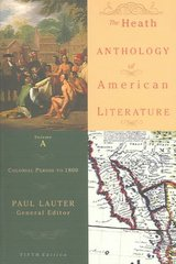 The Heath Anthology of American Literature 5th edition 9780618532971 0618532978