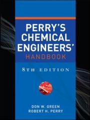 Perry's Chemical Engineers' Handbook, Eighth Edition 8th edition 9780071422949 0071422943