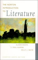The Norton Introduction to Literature 9th edition 9780393926156 039392615X