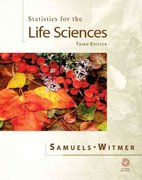 Statistics for the Life Sciences 3rd edition 9780130413161 013041316X