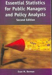 Essential Statistics For Public Managers and Policy Analysts, 2nd Edition 2nd Edition 9780872893016 0872893014