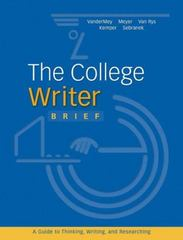 The College Writer 1st edition 9780618588954 0618588957
