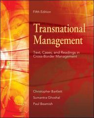 Transnational Management 5th edition 9780073101729 0073101729