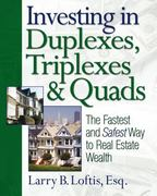 Investing in Duplexes, Triplexes, and Quads 0 9781419537257 1419537253