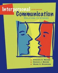 Interpersonal Communication 5th edition 9780205488797 020548879X