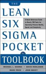 The Lean Six Sigma Pocket Toolbook 1st Edition 9780071441193 0071441190