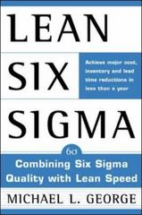 Lean Six Sigma 1st edition 9780071385213 0071385215