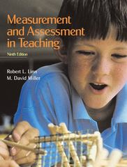 Measurement and Assessment in Teaching 9th Edition 9780131137721 0131137727